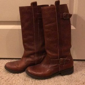 Brown Leather Riding Boots